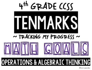 4th GRADE MATH TENMARKS DATA SHEETS OPERATIONS & ALGEBRAIC