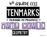 4th GRADE MATH TENMARKS DATA SHEETS TRACKING ASSESSMENTS G