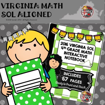 4th GRADE MATH VIRGINIA  SOL INTERACTIVE NOTEBOOK