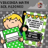 4th GRADE MATH 2016 VIRGINIA  SOL INTERACTIVE NOTEBOOK