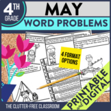 4th GRADE MAY WORD PROBLEMS - 50% OFF 1ST 24 HOURS