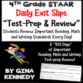4th Grade STAAR Math, Writing & Reading Daily Test-Prep Review Exit Slips