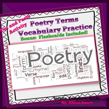 4th and 5th GRADE STAAR READY: Poetry Vocabulary: Cut and Paste