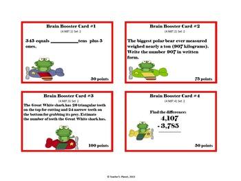 4.NBT  Brain Booster Game /Task Cards  Set 2