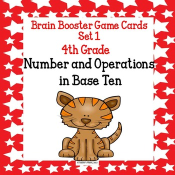 4.NBT  Brain Booster/ Task Cards Set 1
