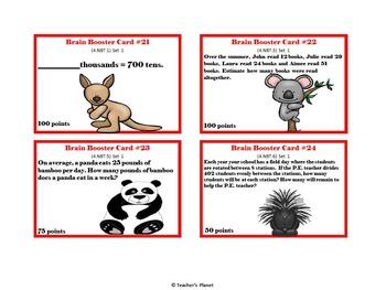 4th Grade Game/Task Cards - Numbers Base Ten Set 1