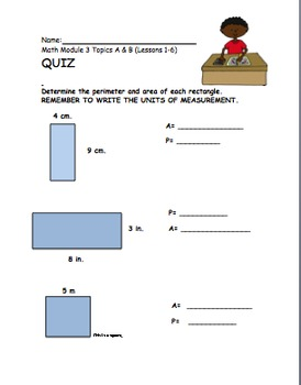 4th Gr Eureka Math Module 3 Topics A &B  Lessons 1-6 Differentiated Quiz/Review