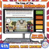 4th Gr. Narrated Digital Math Mystery Halloween Word Problems