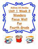 4th Gr. Wonders Reading Focus Wall Posters Simple and Easy