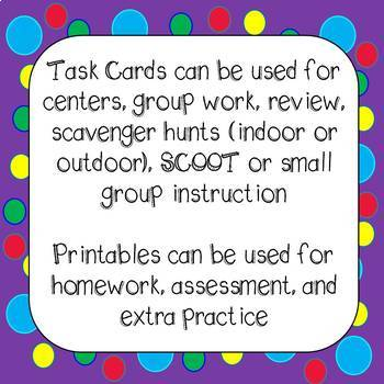 4th Grade Math MEGA Bundle Task Cards and  Worksheets Common Core Aligned