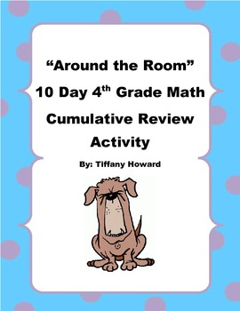 4th Grade 10 Day Math Cumulative Review Center Cards