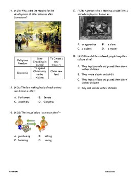 4th Grade 13 Colonies Unit Test