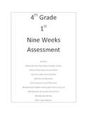 4th Grade 1st Nine Weeks Assessment