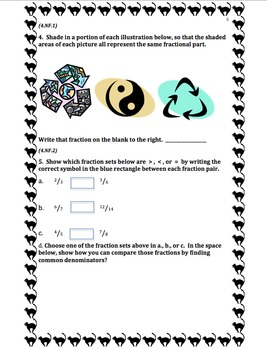 4th Grade 1st Quarter Common Core Math Assessment (ANSWER KEY INCLUDED)