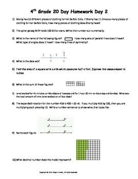 4th Grade 20 Days to Math STAAR