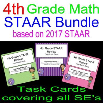 4th Grade 2017 STAAR Review Bundle Scoot Cards