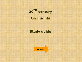 20th Century/Civil Rights PowerPoint Game!