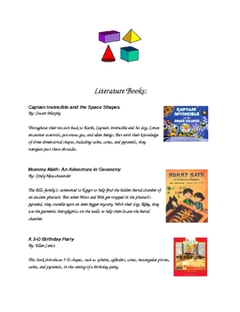 4th Grade 3-D Figures Resources