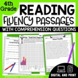 Reading Fluency Passages & Comprehension Questions 4th Grade | Distance Learning