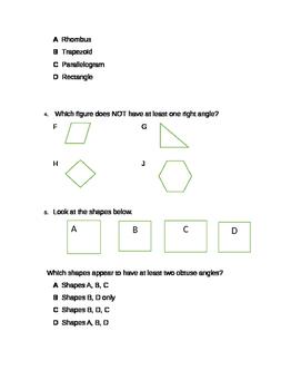 4th Grade 4.6D Classifying 2d shapes