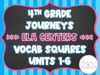 4th Grade Journeys ELA Center Google Classroom Vocabulary 4 Squares Units 1-6