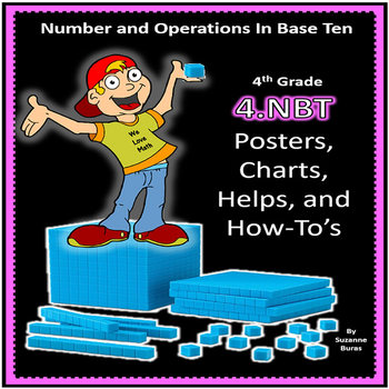 4th Grade 4.NBT Posters, Charts, Helps, and How To's: 4.NBT.1-6