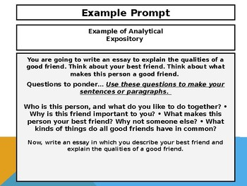 4th Grade ACT ASPIRE Analytical Expository Writing Powerpoint