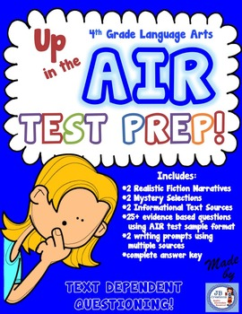 AIR Test Prep: 4th Grade Language Arts (Common Core aligned)