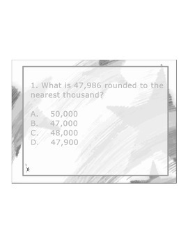4th Grade ActivInspire 5 question assessment 4.NBT.A.3 / 4.NBT.3 Rounding