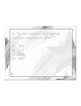 4th Grade ActivInspire 5 question assessment 4.NBT.A.3 / 4.NBT.3 Rounding