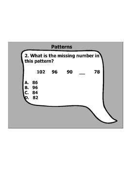 4th Grade ActivInspire 5 question assessment 4.OA.C.5 / 4.OA.5