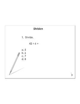 4th Grade ActivInspire 5 question assessment (Division) 4.NBT.B.6