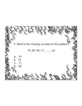 4th Grade ActivInspire 5 question assessment Geometry 4.G.A.1, 2, 3