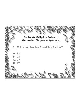 4th Grade ActivInspire 5 question assessment Geometry 4.G.