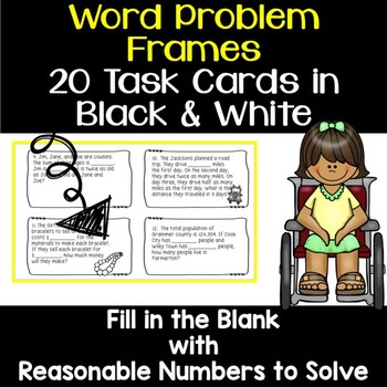 4th Grade Add, Subtract, Multiply Task Cards - Students Fill in the Blank
