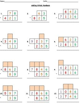 Adding Whole Numbers with Regrouping (Differentiated) (Grades 2-5)