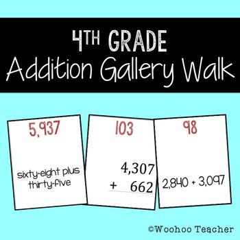 4th Grade Addition Gallery Walk