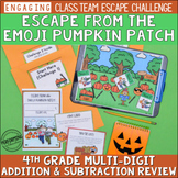 Halloween Escape Room | 4th Grade Halloween Math Activity | Word Problems