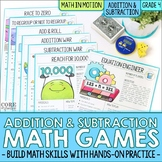 4th Grade Addition & Subtraction Math Games | Hands-On Lea