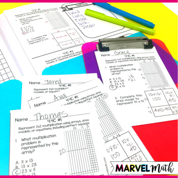4th Grade Addition, Subtraction, Multiplication, Division TEKS Exit Slips Bundle