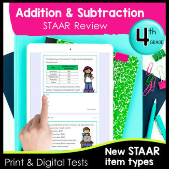 4th Grade Addition Subtraction TEKS Formative Assessments