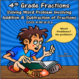 4th Grade Addition/Subtraction of Fraction/Mixed Number Word Problems: 4NF.B.3d