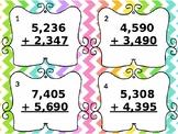 4th Grade Addition Task Cards