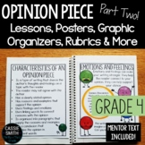 4th Grade Advanced Opinion Piece Writing Unit {W.4.1.C, W.4.1.D}