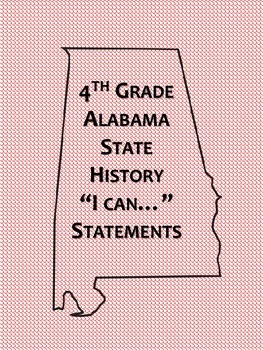 4th Grade Alabama History I Can Statements