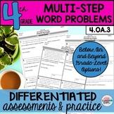 4th Grade Algebraic Thinking Multistep Word Problems Worksheets