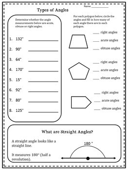 4th Grade All About Angles 4.MD.5, 4.MD.6, 4.MD.7