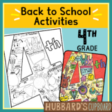 4th Grade All About Me Book - Back to School Activities - First Day of School