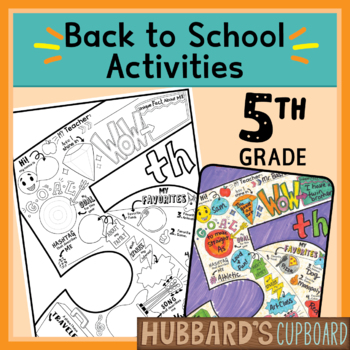 5th Grade All About Me Book - Back to School Activities - First Day of  School