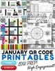4th Grade All Year Long MATH QR Code Printables - Low Prep!